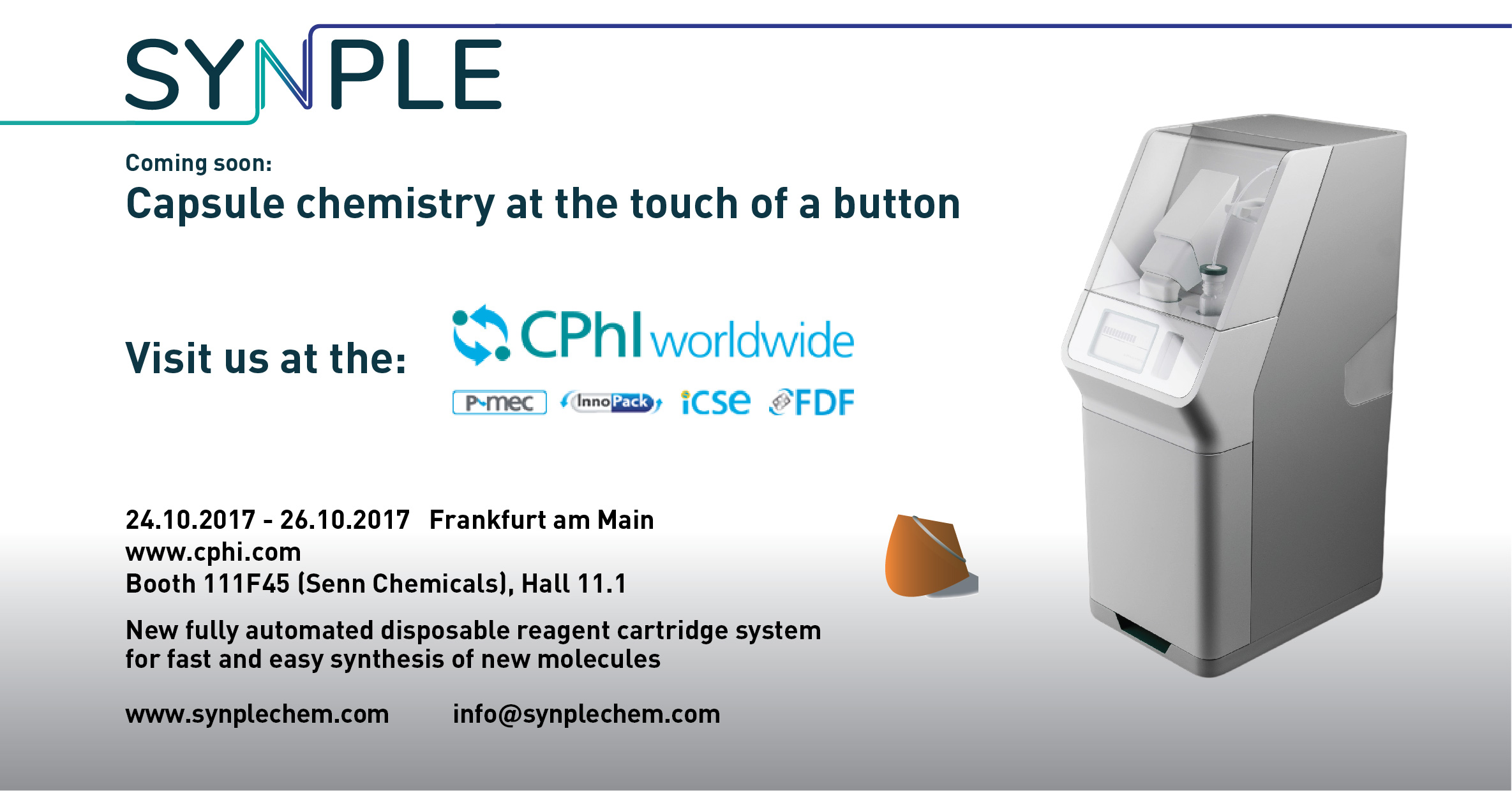We will be at the CPhI 2017: